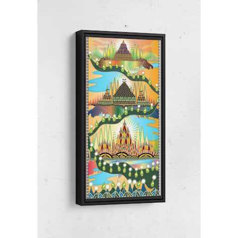 Three Castles Long Vertical Framed Canvas Wall Art by Bolly Doll