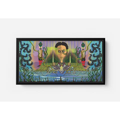 Daman Third Kingdom Long Horizontal Framed Canvas Wall Art by Bolly Doll