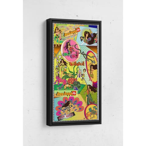 Comic Layout Long Vertical Framed Canvas Wall Art by Bolly Doll