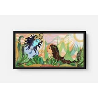 Bolly Amazed by Kishna Long Horizontal Framed Canvas Wall Art by Bolly Doll