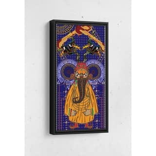 Tamir Long Vertical Framed Canvas Wall Art by Bolly Doll