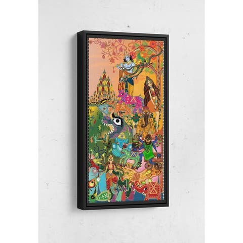 Bollywood Page 2 Long Vertical Framed Canvas Wall Art by Bolly Doll