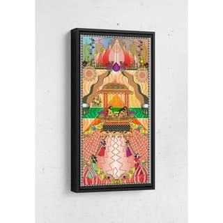 Gaia Long Vertical Framed Canvas Wall Art by Bolly Doll