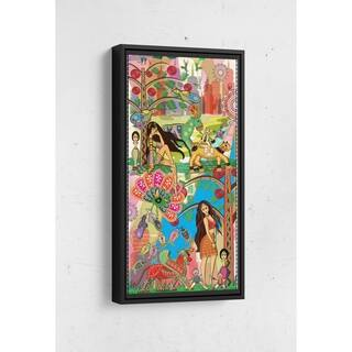 Introducing Bolly and Sheena Long Vertical Framed Canvas Wall Art by Bolly Doll