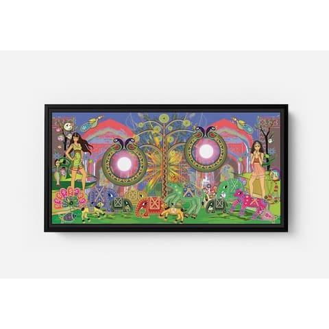 The Bangles Long Horizontal Framed Canvas Wall Art by Bolly Doll