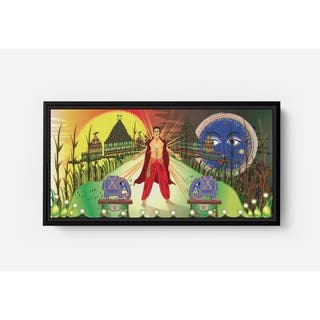 Prince Feeling Beam Long Horizontal Framed Canvas Wall Art by Bolly Doll
