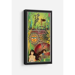 Serpent Chase Long Vertical Framed Canvas Wall Art by Bolly Doll