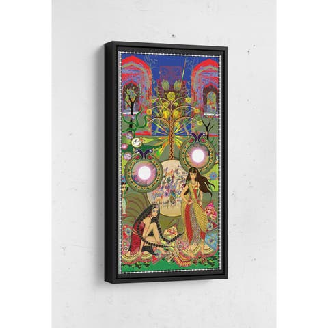 The Bangles Long Vertical Framed Canvas Wall Art by Bolly Doll