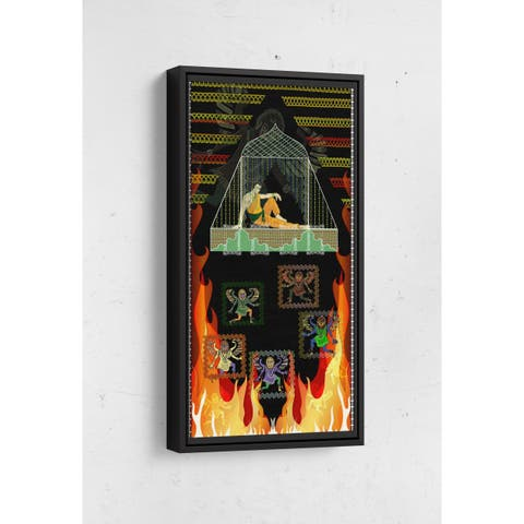 Prince Demon Window Long Vertical Framed Canvas Wall Art by Bolly Doll
