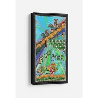 Danger In the Forest Long Vertical Framed Canvas Wall Art by Bolly Doll