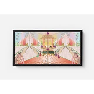 Gala Long Horizontal Framed Canvas Wall Art by Bolly Doll