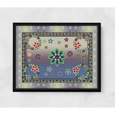Elephant Flower Horizontal Framed Canvas Wall Art by Amrita Sen