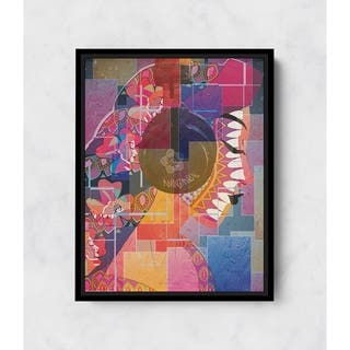 Radha-Sing Vertical Framed Canvas Wall Art by Amrita Sen