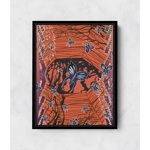 Butterfly Willows Vertical Framed Canvas Wall Art by Amrita Sen