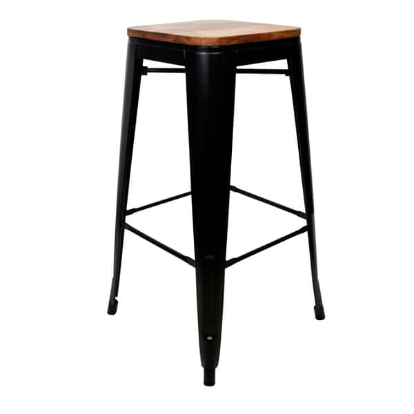 Cool Shop 4 Piece 30 Bar Stool Set With Rosewood Top And Metal Cjindustries Chair Design For Home Cjindustriesco