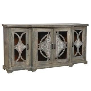 Hillandale 4 Glass Door T sideboard - 37'' H x 78'' W x 17'' D