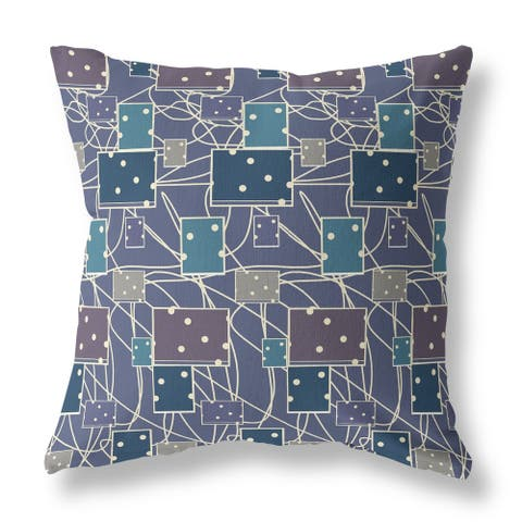 Dice Trail Reverse Double Sided Decorative Pillow by Amrita Sen