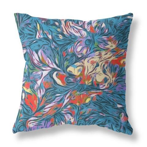 Whirlwind Single Sided Decorative Pillow by Amrita Sen