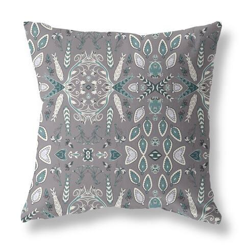 Sword Leaf Flower Single Sided Decorative Pillow by Amrita Sen