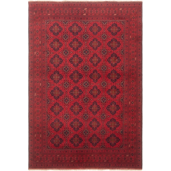 eCarpetGallery Hand-knotted Finest Khal Mohammadi Red Wool Rug - 6'7 x 9'7
