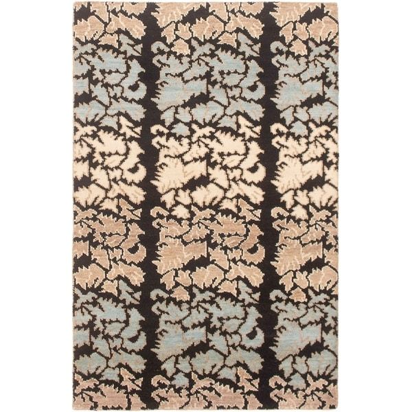 eCarpetGallery Hand-knotted Eternity Ivory Wool Rug - 5'1 x 7'10