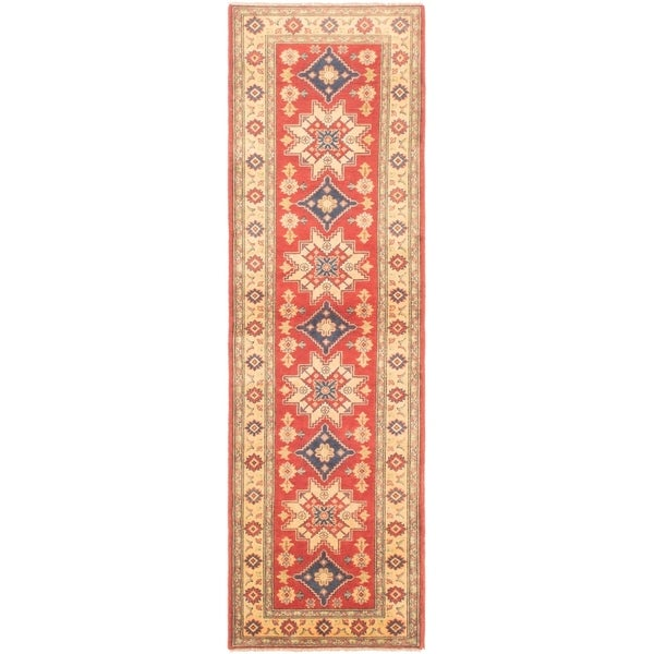 eCarpetGallery Hand-knotted Finest Gazni Red Wool Rug - 2'9 x 9'7