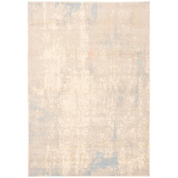 eCarpetGallery Hand-knotted Galleria Light Grey Wool Rug - 5'1 x 7'5