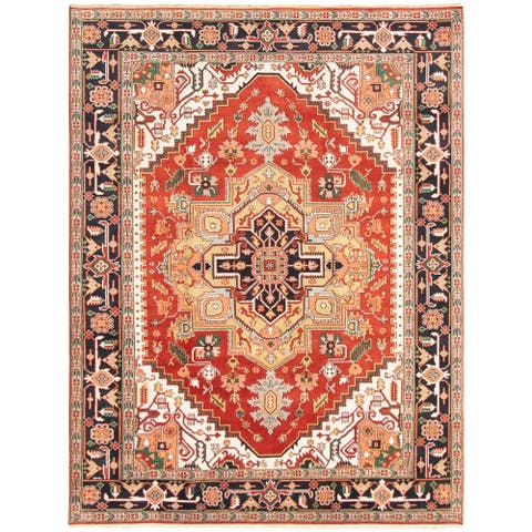 eCarpetGallery Hand-knotted Serapi Heritage Dark Copper Wool Rug - 8'10 x 11'9