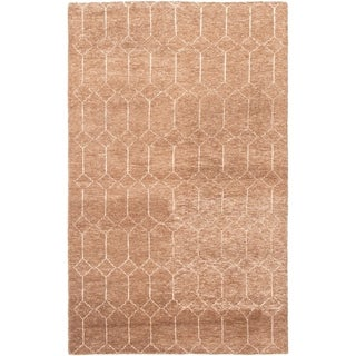 eCarpetGallery  Hand-knotted Tangier Tan Wool Rug - 4'11 x 8'0