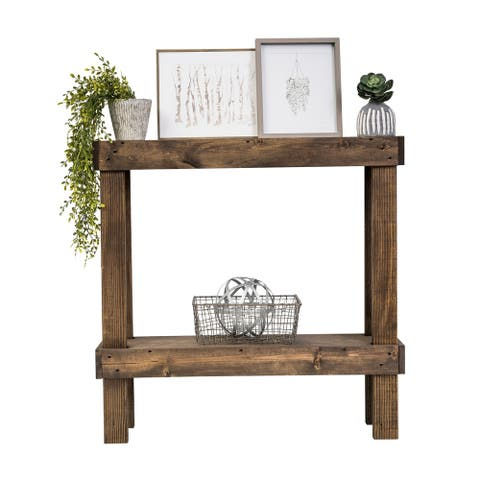 The Gray Barn Holyhead Handmade Rustic Luxe Small Wooden Sofa Table
