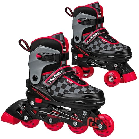 2N1 Boys Inline and Quad Skate Combo by Roller Derby