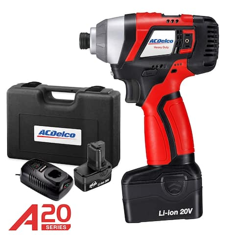ACDelco A20 BRUSHLESS 20V Li-ion cordless Impact Driver Kit, max. 148 ft-lbs Torque, 2 Battry Packs, ARI20155