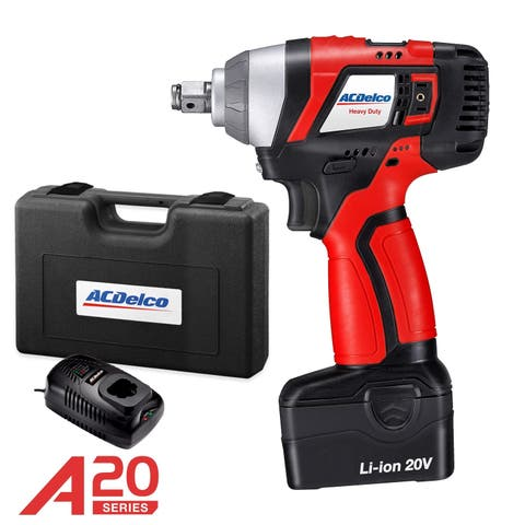 "ACDelco A20 BRUSHLESS 20V Li-ion 1/2"" cordless Impact Wrench Kit, max. 320 ft-lbs Torque, Battry Pack, ARI20156-M"