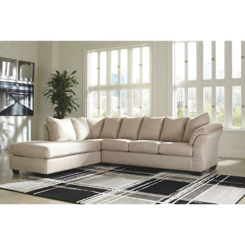Darcy 2-Piece Contemporary Sectional with Chaise - Stone
