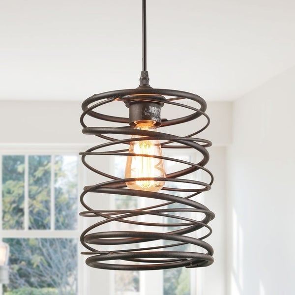 shop 1-light pendant lighting bronze rustic ceiling lights