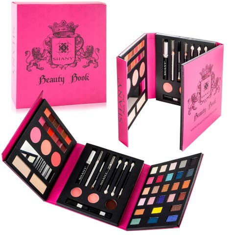 SHANY Beauty Book  All-in-One Makeup Palette with Tools- Eyes, Lips, and Face - MULTI-COLORED