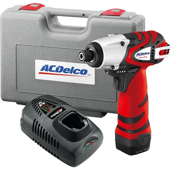 """ACDelco ARI1265 Li-ion 12V 1/4"""" Impact Driver Kit (1265 in-lbs Torque), 1-battery included"""