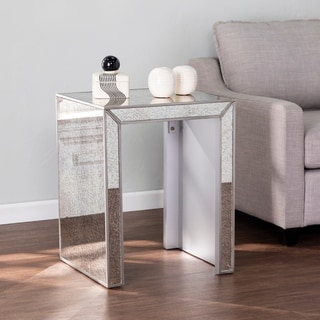 Silver Orchid Marsalis Glam Mirror End Table