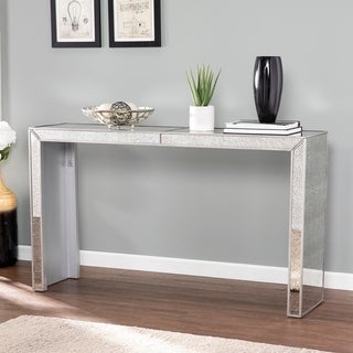 Silver Orchid Marsalis Glam Mirror Cocktail Table