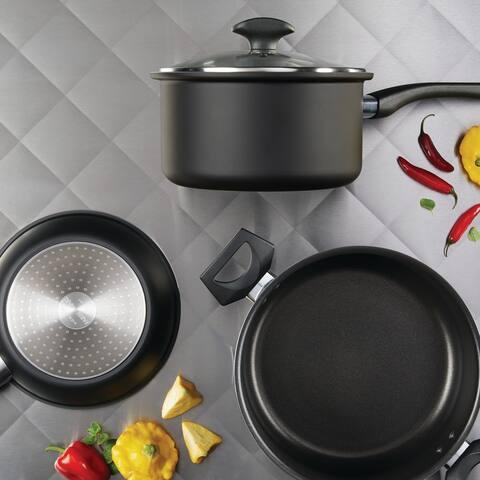 Farberware Advantage PowerDiamond Nonstick Cookware Set, 14-Pc, Black