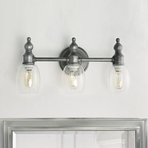 Carbon Loft Amir 3-light Indoor Wall Lights Aged Steel Wall Sconces