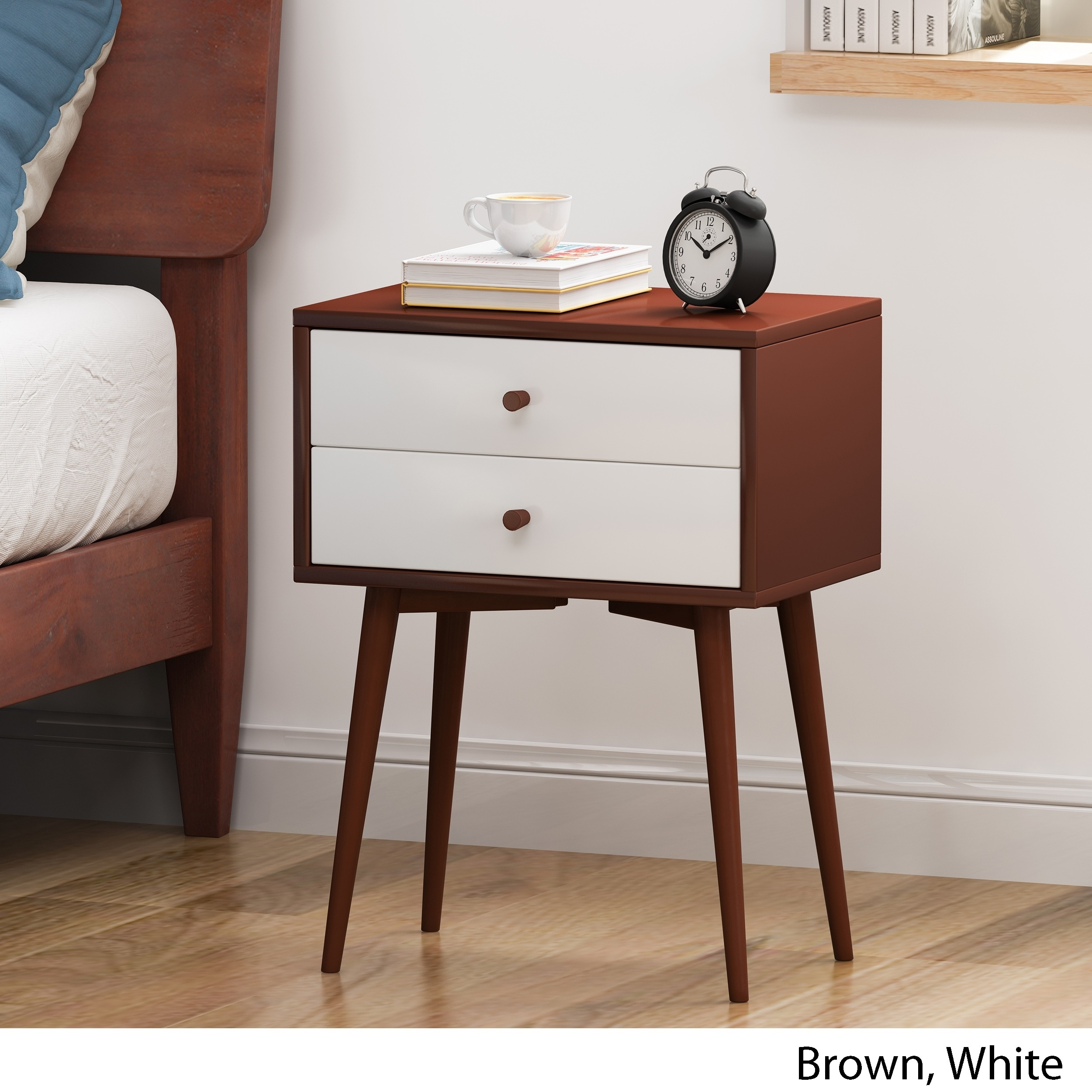 Shop Black Friday Deals On Newcomb Mid Century Modern Side Table By Christopher Knight Home Overstock 28878948
