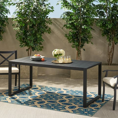Navan Outdoor Aluminum Dining Table by Christopher Knight Home