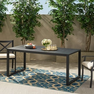 Link to Navan Outdoor Aluminum Dining Table by Christopher Knight Home Similar Items in Patio Furniture