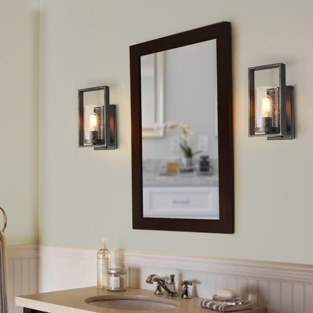 Rustic Bath Vanity Light Fixtures