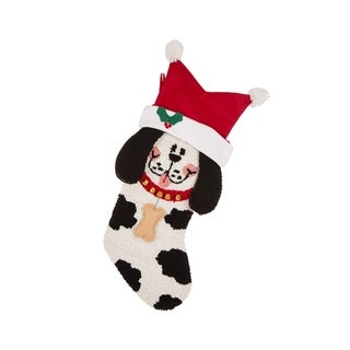 """Link to Glitzhome 22""""L Hooked 3D Stocking Similar Items in Christmas Decorations"""