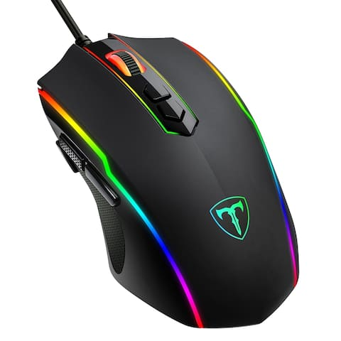 Wired Gaming Mouse 8-Button Programmable Mouse Optical Ergonomic PC Gaming Mice 7200CPI Customizable Mouse with 5-Level CPI
