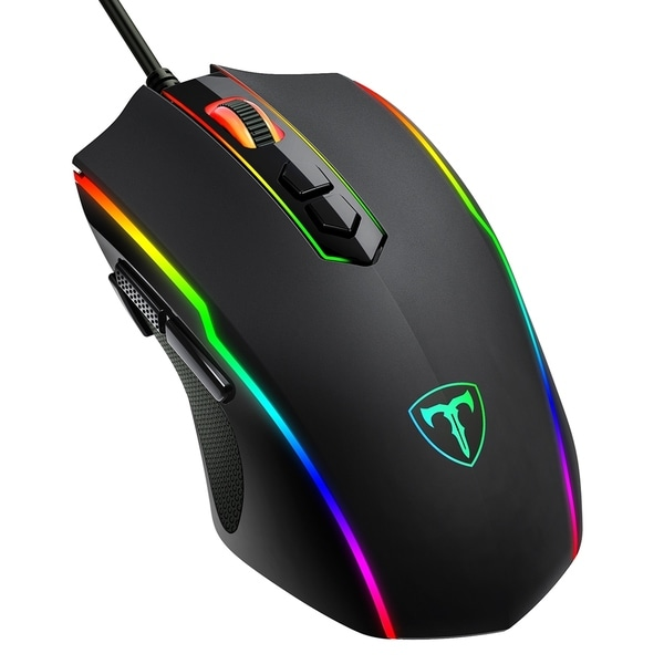 Wired Gaming Mouse 8-Button Programmable Mouse Optical Ergonomic PC Gaming Mice 7200CPI Customizable Mouse with 5-Level CPI. Opens flyout.