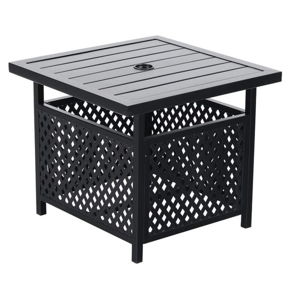 Side Table With Umbrella Hole