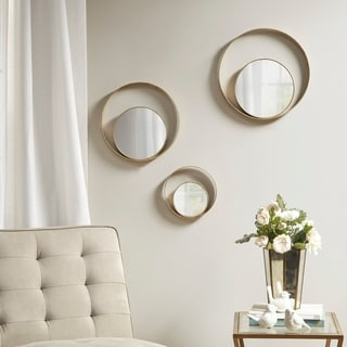Madison Park Signature Reina Gold Mirror Set of 3